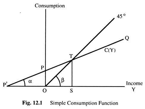 Simple Consumption Function