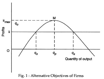 Alternative objectives of firms