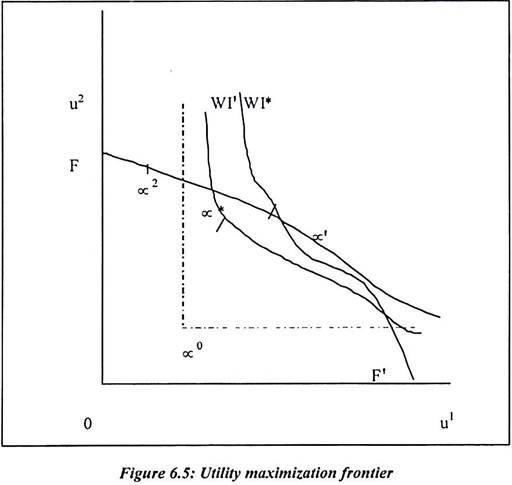 Utility Maximization Frontier